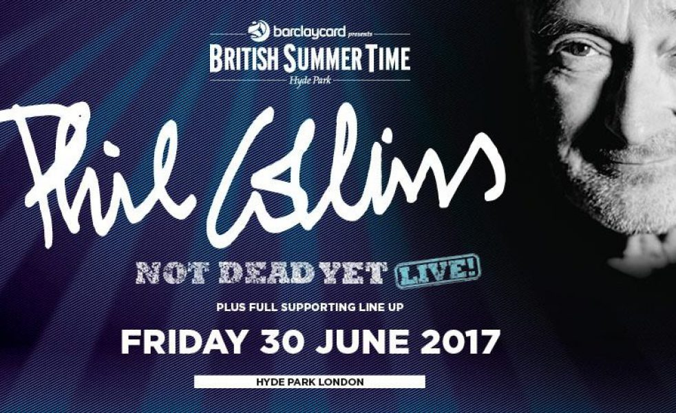 Phil Collins al BST Festival, Hyde Park. Info