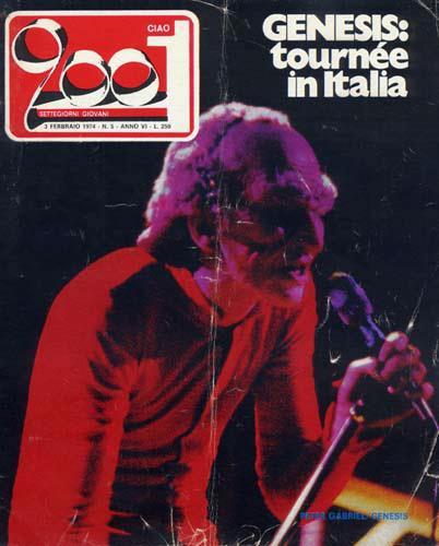 Ciao 2001 dedica la copertina alla tournée dei Genesis in Italia