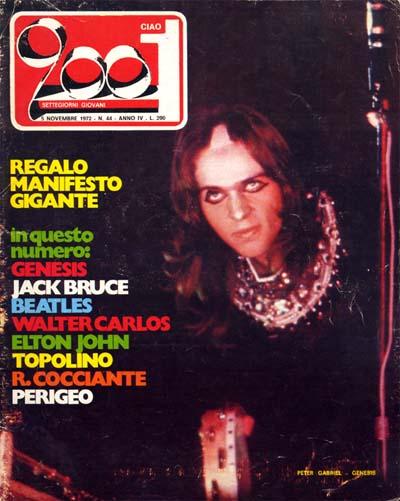 Coprtina di Ciao 2001 sui Genesis, novembre 1972