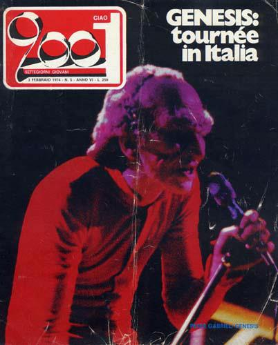 Ciao 2001 dedicates the cover to the Genesis tour in Italy
