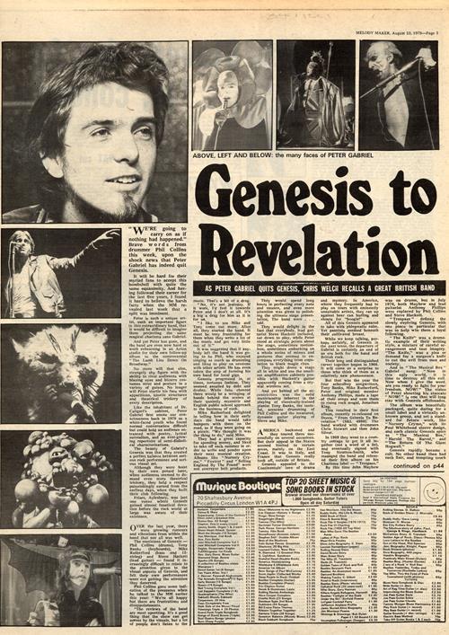 Gli articoli di quel periodo storie-estate-peter-gabriel-ufficializza-uscita-genesis